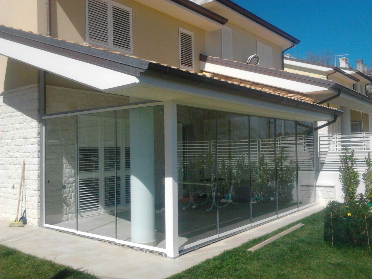 veranda in vetro camerano with veranda vetro